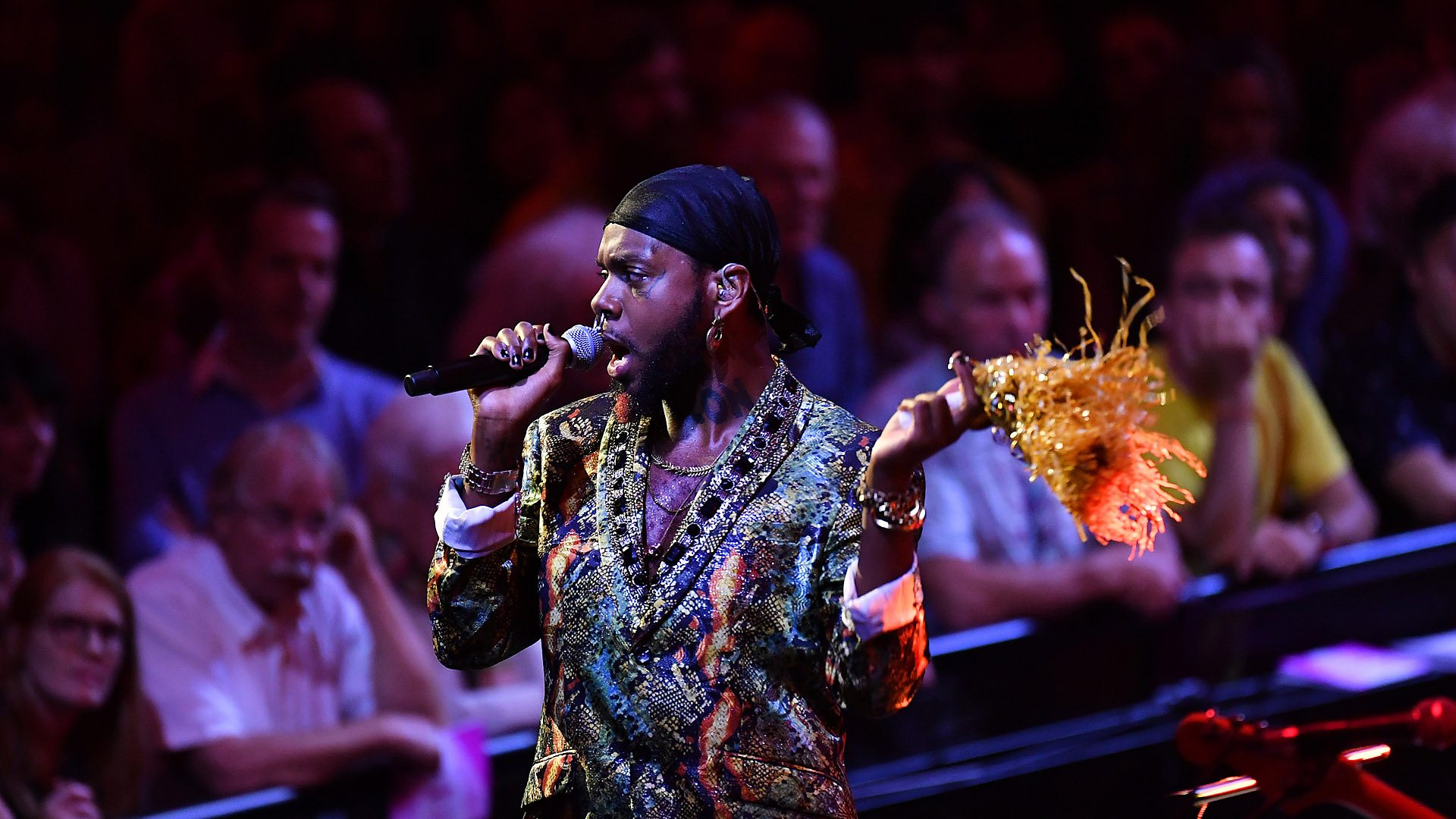 Watch serpentwithfeet & the Heritage Orchestra's hauntingly beautiful performance at BBC Proms