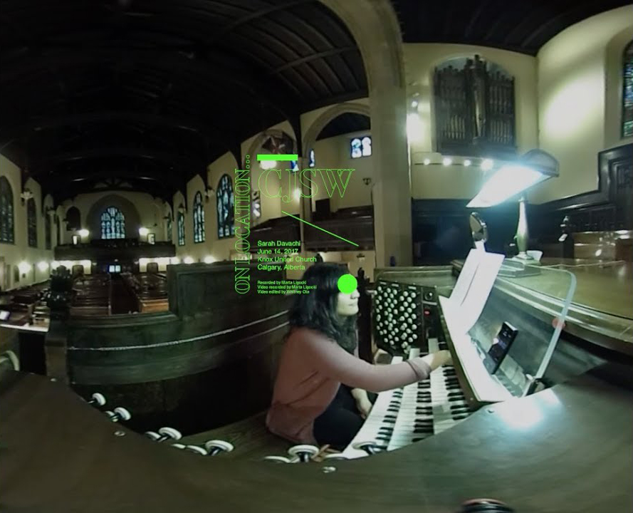 Watch (360-degrees): Sarah Davachi's drone performance on Calgary's Knox United Church Organ
